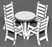 1:32 Scale Table with Four Chairs Kit - for Scalextric/Other Static Layouts