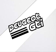 2x Peugeot Gti Sports Windshield Laptop Sticker Decal