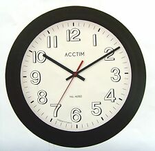 retro style wall clock with rubber paint finish glass lens by acctim 22153