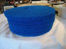 "NEW GLIT MICROTRON 15"" BLUE SCRUBBING  PADS (Pkg. 5)"
