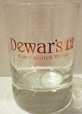 "Dewar's 12 Finest Scotch Whisky Drink Glass 4"" Tall x 3"" Wide Excellent Cond."