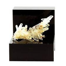 """Quartz """" cristal de roche """" et Siderite. 46.4 ct. Le Trou des Chasseurs, Vizille"""