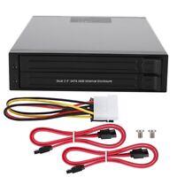Dual-bay Internal 2.5inch SATA Hard Disk Box HDD/SSD Floppy Hard Drive Disk Case