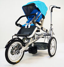 Stroller Bike Tricycle Easy Transform Into Stroller 1 Speed (MCB-01S-ALU) Blue