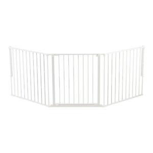 BabyDan Flex 35.4-87.8 Large Size Metal Safety Baby Gate & Room Divider, White