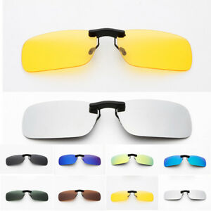 Polarized Sunglasses Clip On Driving Glasses Day Night Vision Lens Men Women
