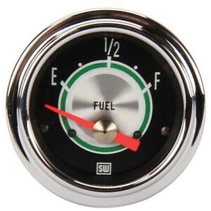 Stewart Warner 301AW Green Line Fuel Level Gauge, 2-1/16 Inch