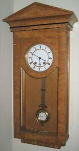Antique Lenzkirch ca 1859 German Vienna Regulator clock, runs and chimes