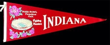 Indiana Fighting Hoosiers **RARE** Vintage Pennant 1968 Rose Bowl NCAA Football