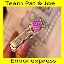 Bijoux de téléphone portable Rose Violet pour Iphone Samsung Neuf de France