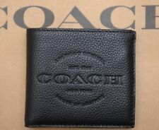 Coach $175 Men's 1941 NY House of Leather Black Billfold Wallet New F24647