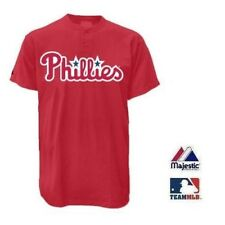 PHILADELPHIA PHILLIES MLB MAJESTIC 2 BUTTON REPLICA JERSEY
