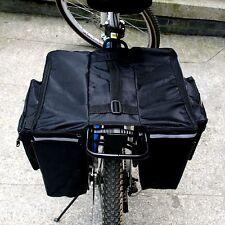 2016 Mountain Bike Cycling Saddle Bag Seat Pouch Bicycle Tail Rear Storage Black