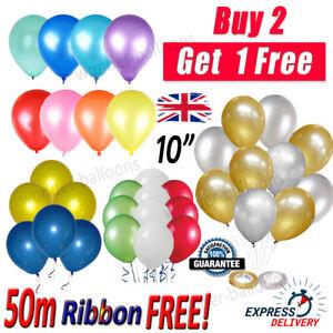 "20 X PEARL LATEX METALLIC CHROME BALLOONS 10"" Helium Baloons Bday Balons"
