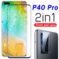 Für Huawei P40 Pro Lite Full Tempered Glass & Camera Lens Screen Protector ~rr