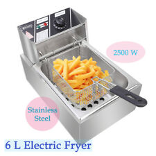 Stainless Steel Commercial Household Electric Deep Fat Fryer Fried Chicken Pan