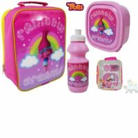 DreamWorks Trolls Lunchbag Lunch Bag Case Sandwich Box Drink Bottle Set Kids NEW
