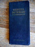 Vintage Webster Vest Pocket Dictionary De Luxe Edition signed 1948 Vermillion SD