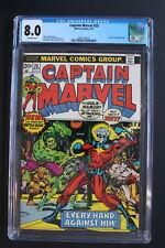 CAPTAIN MARVEL #25 STARLIN Begins 1973 Super-Skrull THANOS SAGA Prelude CGC 8.0