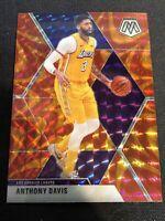 2019-20 Panini Mosaic Orange Reactive Prizm #18 Anthony Davis Los Angeles Lakers