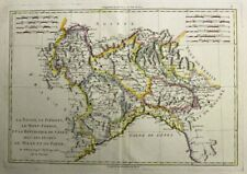 1788 Bonne Map of North West Italy