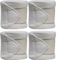 WHITE Fleece Polo/Leg Wraps Set of Four!! NEW HORSE TACK!!
