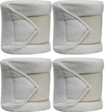 White Fleece Polo/Leg Wraps Set of Four! New Horse Tack!