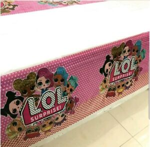 LOL Surprise Doll Tablecloth Table Cover Kids Birthday Party Tableware 180x108cm