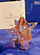 "Swarovski Crystal ""Golden Shadow"" Star - Christmas Ornament # 1140008 Retired"
