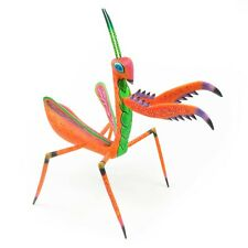 Praying Mantis Oaxacan Alebrije Wood Carving Handcrafted Mexican Art Sculpture