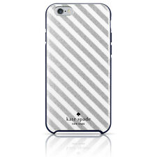 Kate Spade NY iPhone 6/6S PLUS 5.5 Hybrid Hardshell Case Diagonal Stripe Silver