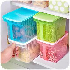 Storage Box Refrigerator Container Food Kitchen Organizer Plastic Holder Case