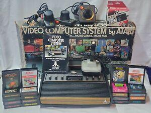 Atari 2600 Heavy Sixer Original BOX Joysticks Paddle 20 games WORKING bundle lot