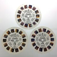 Lot of 3 Super Heroes 1979 3D View Master Slides Stereo Reels Q665