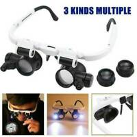 8x15x23x Magnifier Magnifying Eye Glass Loupe Jeweler Watch Repair Kit With LED