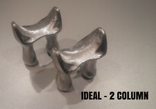 PAIR CAST IRON RADIATOR FEET - FOR OLD RECLAIMED VINTAGE WALL HUNG -  2 COLUMN