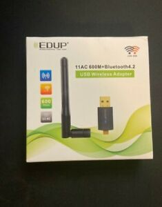 EDUP USB Bluetooth WiFi Adapter Dual Band 11AC 600Mbps Wireless Dongle 2.4G/5.8G