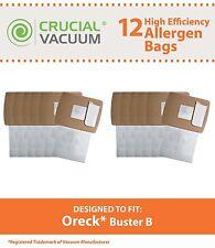 12 Oreck Buster B Vacuum Bags, Part # PKBB12DW New
