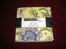 "NEW 1 PACKAGE OF STUDIO E FABRICS 5""X5"" PRE-CUT SQUARES"