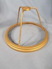 Vintage Brass Electric under the Socket 6 inch Shade Ring/Gas Burner c1900