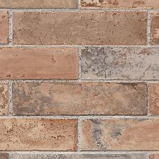 Terra Cotta Realistic Brick Wallpaper LL29534