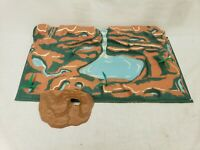 Marx Vintage 1955 Prehistoric Times #3390 Dinosaur Playset Terrain & Cave Only