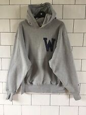 TRASHED VINTAGE RETRO GREY USA CHAMPION SWEATSHIRT SWEATER HOODIE LARGE #160