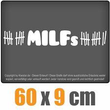 MILFs  chf0023 weiß 60 x 9 cm Heckscheibenaufkleber Scheibe Auto Car