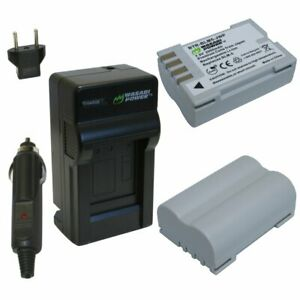 Wasabi Power Battery (2-Pack) and Charger for Olympus BLM-5, PS-BLM5