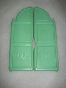 Pair Set Little Tikes Green Tulip Replacement Window Shutter Outdoor Playhouse