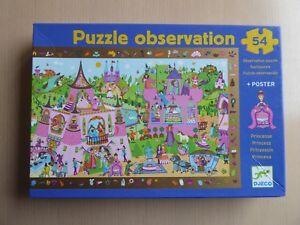 PUZZLE OBSERVATION DJECO PRINCESSE