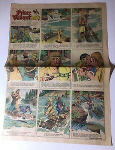 """1-16-44 Prince Valiant by Harold Foster Weekly Sunday Funny comic 21x15"""""""