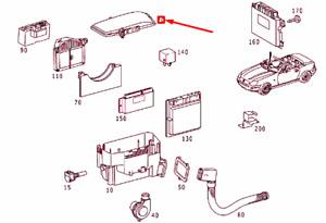 MERCEDES-BENZ SLK R170 Fuse Box Cover A1705400382 NEW GENUINE
