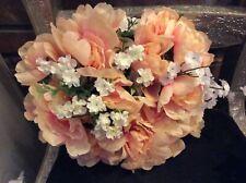 Bridal Bouquets Silk Wedding Flowers DYI pink